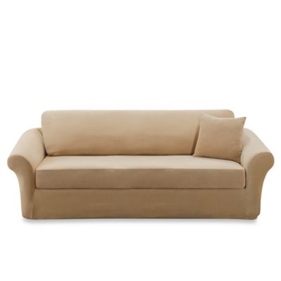 Sure Fit® Stretch Sterling 3-Piece Sofa Slipcover in Cream