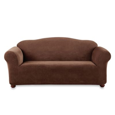 Sure Fit® Stretch Sterling Sofa Slipcover in Chocolate