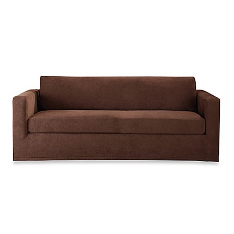 buy sure fit stretch sterling 3 piece sofa slipcover in chocolate
