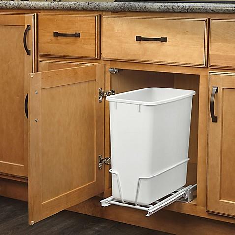 rev a shelf rv 814pb single 20 qt pull out white. Black Bedroom Furniture Sets. Home Design Ideas