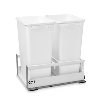 Rev-A-Shelf® 15-Inch Tandem Double 50 Quart Pull-Out Waste Container