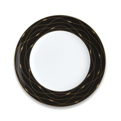 Precious Gold 9-Inch Black Accent Plate