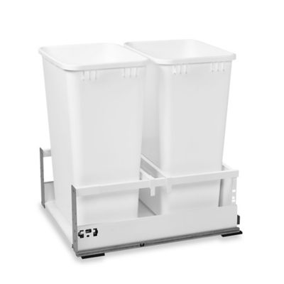Rev-A-Shelf® 18-Inch Double Tandem 50 qt. Pull-Out Waste Containers