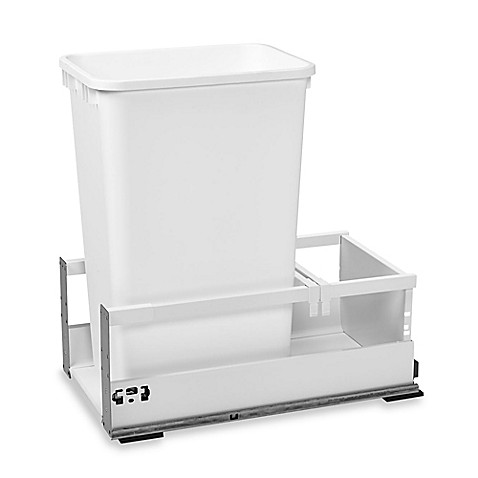 Rev A Shelf 174 12 Inch Servo Single Pull Out Waste Container