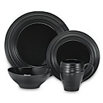 Swirl Black 4-Piece Place Setting