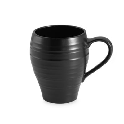 Swirl Black 16-Ounce Mug