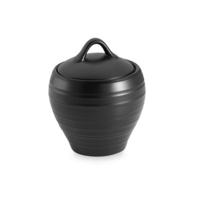 Mikasa® Swirl Covered Sugar Bowl in Black