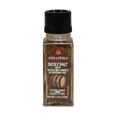 Collitali Disposable Sicilian Sea Salt with Balsamic Grinder
