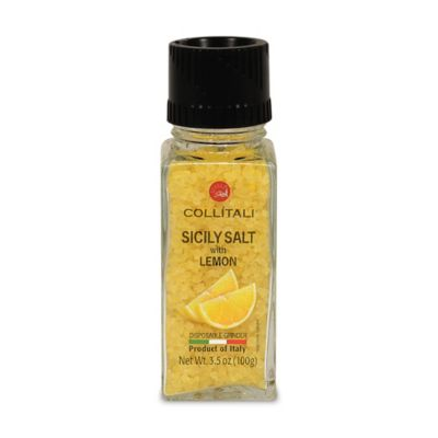 Collitali Disposable Sicilian Sea Salt with Lemon Grinder