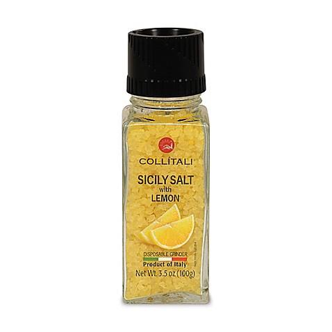 Collitali Disposable Sicilian Sea Salt With Lemon Grinder