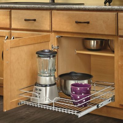 Rev-A-Shelf® 21-Inch x 22-Inch Single Tier Pull-Out Wire Basket