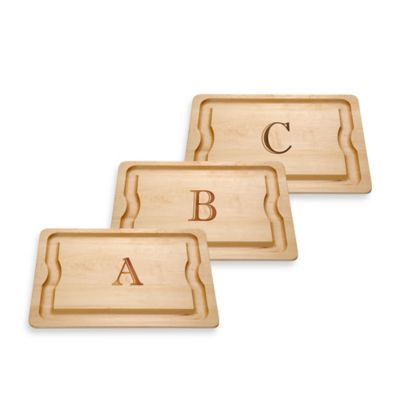 "J.K. Adams Monogrammed Letter ""A"" Barbecue Board"