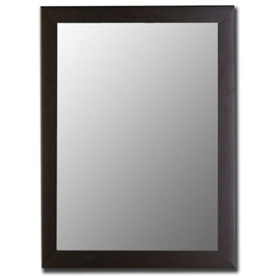Hitchcock-Butterfield 26-Inch x 36-Inch Decorative Wall Mirror in Satin Black