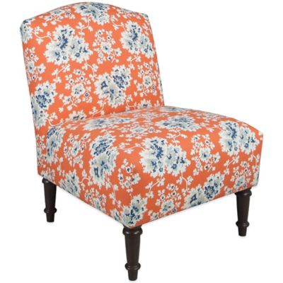 Skyline Furniture Camel Back Chair in Cecilia Coral
