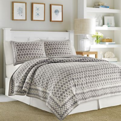 Brown Quilted Pillow Shams
