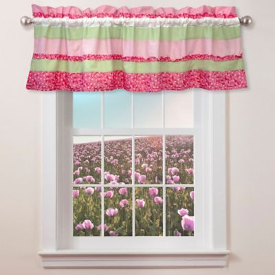 Anna's Ruffle Window Valance in Pink