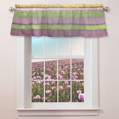 Anna's Ruffle Window Valance in Purple