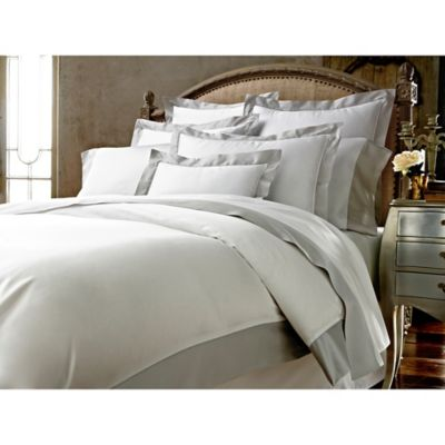 Kassatex® Vicenza Italian-Made Full/Queen Duvet Cover in White