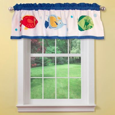 Colorful Sea Window Valance