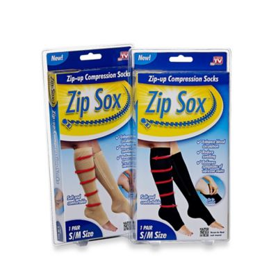 Zip Sox™ Small/Medium Zip Up Compression Socks in Nude