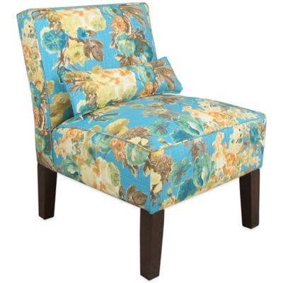 Skyline Furniture Armless Chair in Garden Odyssey Lagoon