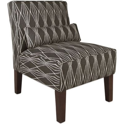 Skyline Furniture Armless Chair in Handcut Shapes Charcoal