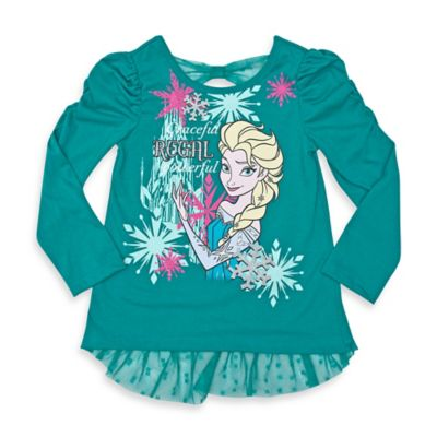 Disney® Frozen Size 2T Elsa Long-Sleeve T-Shirt in Green