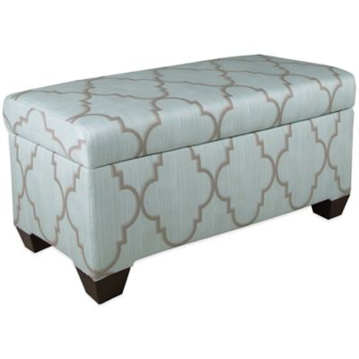 Skyline Furniture Storage Bench in Spring Breeze Mineral