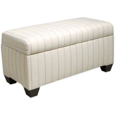 Skyline Furniture Storage Bench in Fritz Sky