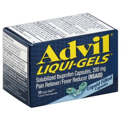 Advil® Liqui-Gels® 20-Count 200 mg Pain Reliever/Fever Reducer Liqui-Gels