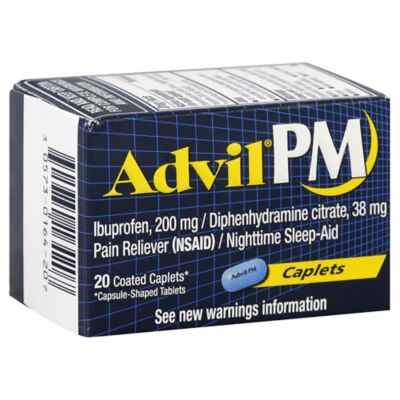 Advil® PM 20-Count Pain Reliever/Nighttime Sleep-Aid Caplets