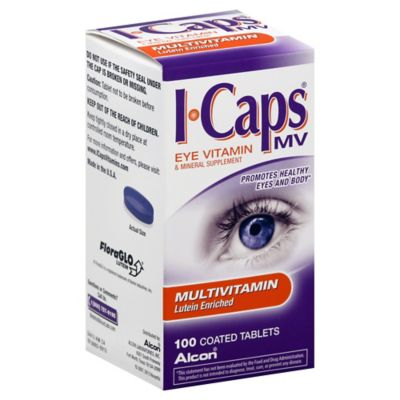 Alcon® ICaps® MV 100-Count Lutein Enriched Eye Multivitamin and Mineral Supplement Tablets