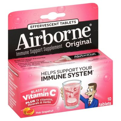 Airborne® 10-Count Effervescent Tablets in Pink Grapefruit