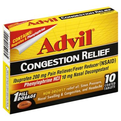 10-Count Congestion Relief Tablets