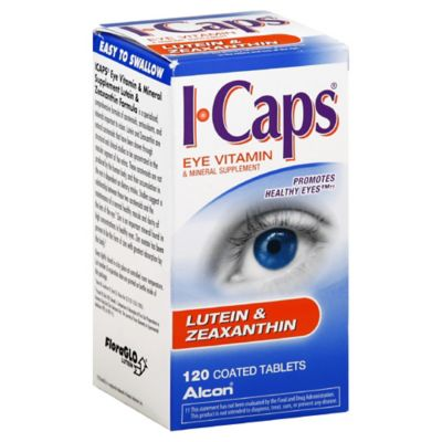 Alcon® ICaps® 120-Count Eye Vitamin and Mineral Supplement Lutein and Zeaxanthin Formula