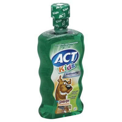Act Kids' 16.9 oz. Anti-Cavity Scooby-Doo Fluoride Rinse in Kiwi-Watermelon Flavor