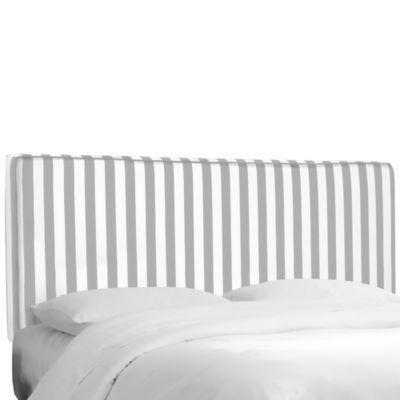 Skyline Furniture Stripe Upholstered Twin Headboard in Canopy Storm