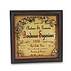 Bordeaux Wine Label Plaque