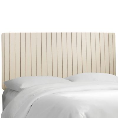 Skyline Furniture Trendy Upholstered Queen Headboard in Fritz Sky