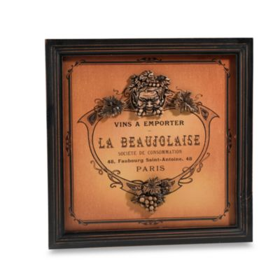 La Beaujolaise Wine Label Plaque