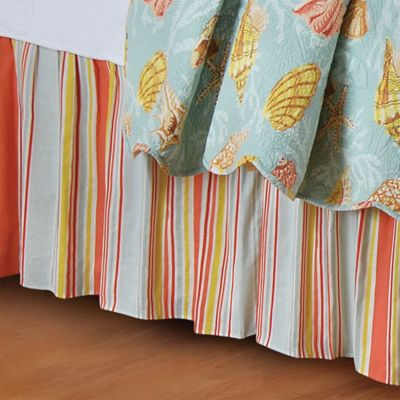 Blue Green Multi Bed Skirt