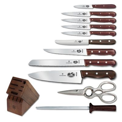 Victorinox Swiss Army Rosewood 12-Piece Knife Block Set