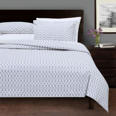 Broadway Full/Queen Coverlet in Grey/White