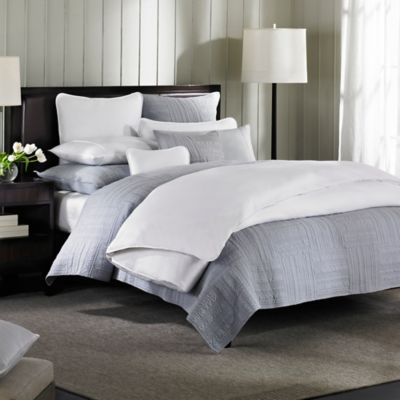 Barbara Barry® Moondrops Pique King Duvet Cover in White