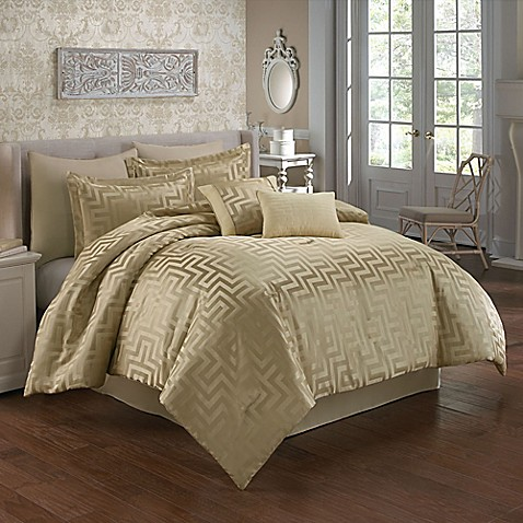 Waves Comforter Set In Beige Bed Bath Amp Beyond