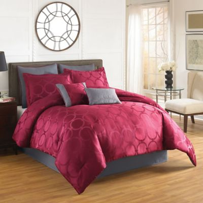 Aryn 6-Piece Twin Comforter Set in Red