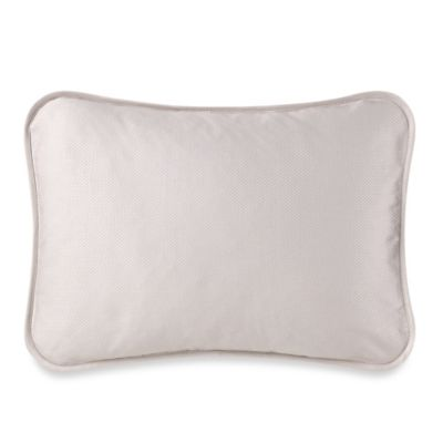 Barbara Barry® Moondrops Pique Oblong Throw Pillow in Dove