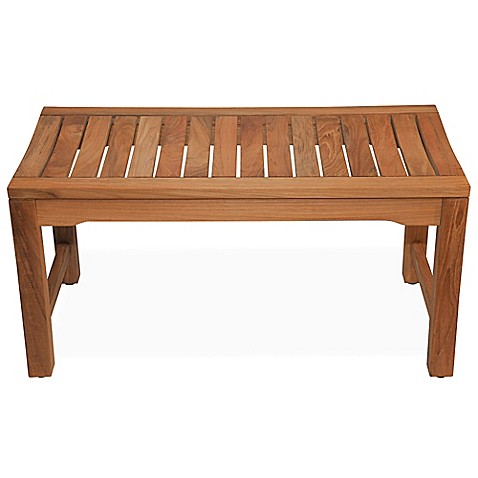 36 Inch Backless Rosemont Teak Shower Bench Bed Bath Beyond