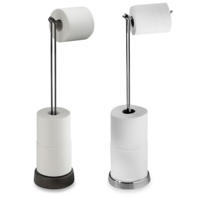InterDesign® Classico Toilet Paper Stand Plus in Satin Nickel