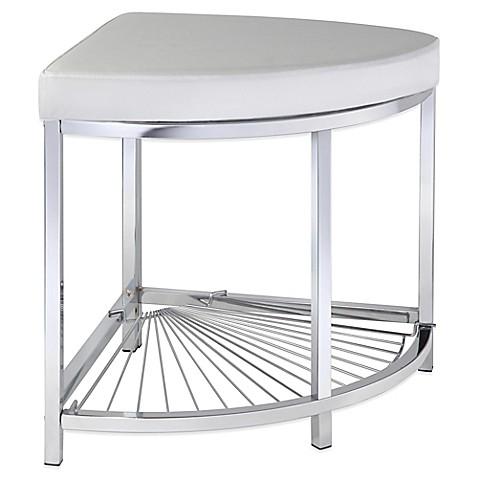 buy taymor urban modern corner vanity stool from bed bath beyond